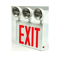 NYC Approved Steel LED Exit Sign with Emergency Lights  Series: EENC