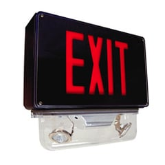 Vandal and Extreme Environment Exit Sign with Emergency Lights Series: EEVC