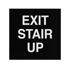 ADA Braille Exit Stair Up Engraved Applique Grade 2