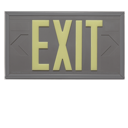 Photoluminescent Exit Sign 100ft Viewing Distance: Series: EEPL100
