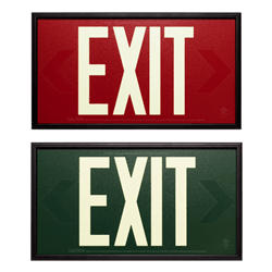 UL924 Photoluminescent Exit Sign 50ft Viewing Distance: Series: EEPF