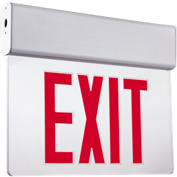 Edgelit Exit Sign Featuring Clear Panel with Upscale Design : Series: EEEL