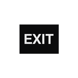 ADA Braille Exit Sign Engraved Applique Grade 2