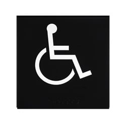 ADA Braille Accessible Exit Sign Engraved Applique Grade 2