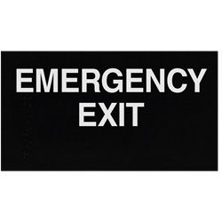 ADA Braille Emergency Exit Sign Engraved Applique Grade 2